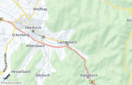 Stadtplan Lautenbach
