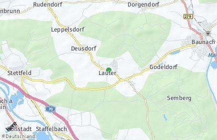 Stadtplan Lauter (Oberfranken)
