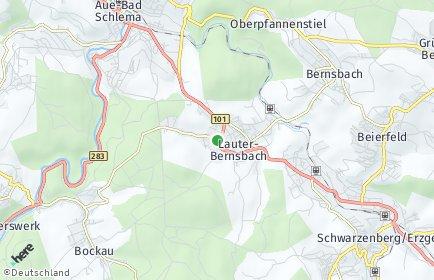 Stadtplan Lauter-Bernsbach