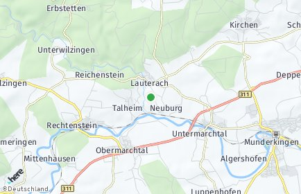 Stadtplan Lauterach (Württemberg)