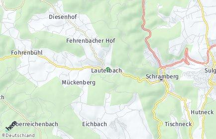 Stadtplan Lauterbach (Schwarzwald)