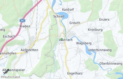 Stadtplan Lautrach