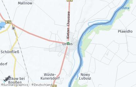 Stadtplan Lebus