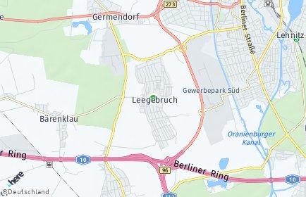 Stadtplan Leegebruch