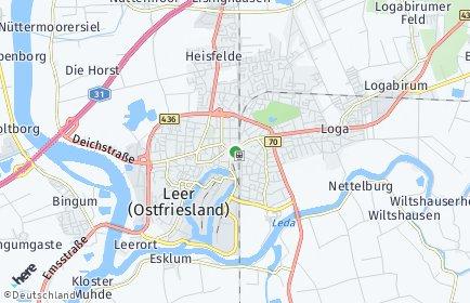 Stadtplan Leer (Ostfriesland)