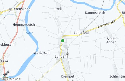 Stadtplan Lehe (Dithmarschen)