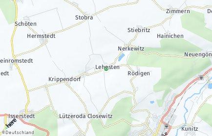 Stadtplan Lehesten bei Jena