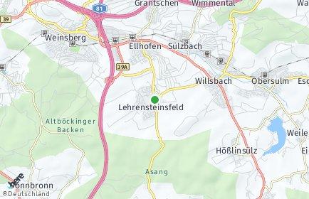 Stadtplan Lehrensteinsfeld