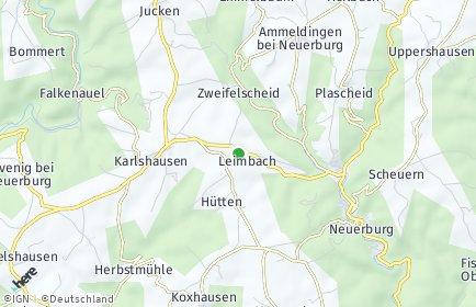 Stadtplan Leimbach bei Neuerburg