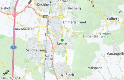 Stadtplan Leimen (Baden)