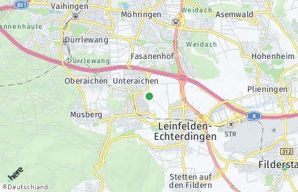 Stadtplan Leinfelden-Echterdingen