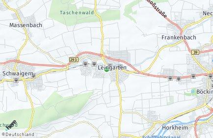 Stadtplan Leingarten
