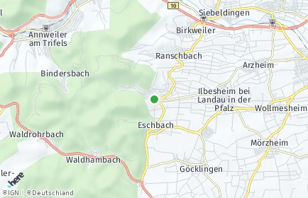 Stadtplan Leinsweiler