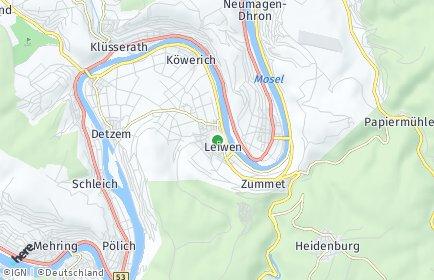 Stadtplan Leiwen
