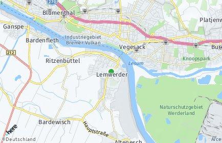 Stadtplan Lemwerder