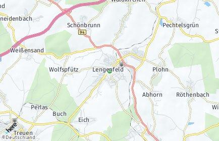 Plz Lengenfeld Vogtland Mit Karte Postleitzahlen 08485 Sachsen