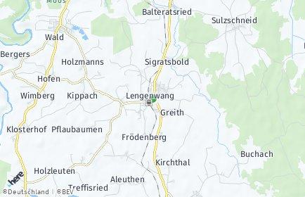 Stadtplan Lengenwang OT Reuthe