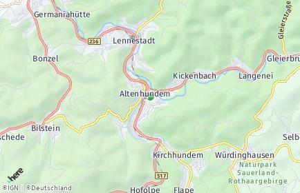 Stadtplan Lennestadt