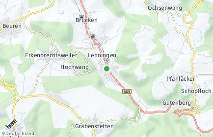 Stadtplan Lenningen OT Engelhof