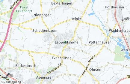 Stadtplan Leopoldshöhe
