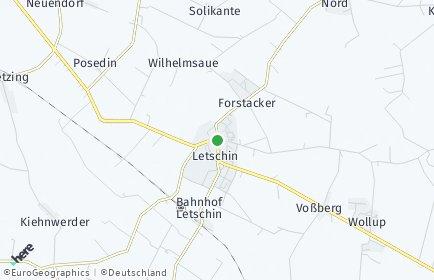 Stadtplan Letschin
