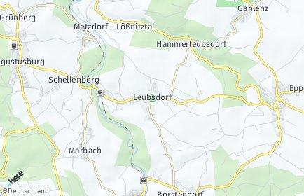 Stadtplan Leubsdorf (Sachsen)