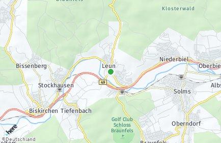 Stadtplan Leun