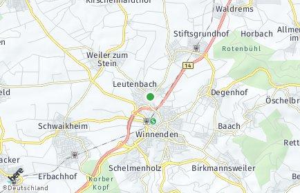 Stadtplan Leutenbach (Württemberg)
