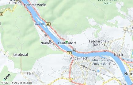 Stadtplan Leutesdorf