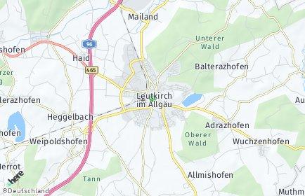 Stadtplan Leutkirch im Allgäu