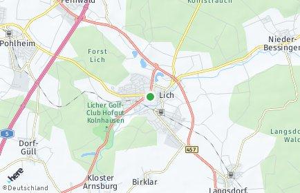 Stadtplan Lich