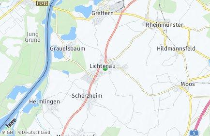 Stadtplan Lichtenau (Baden)