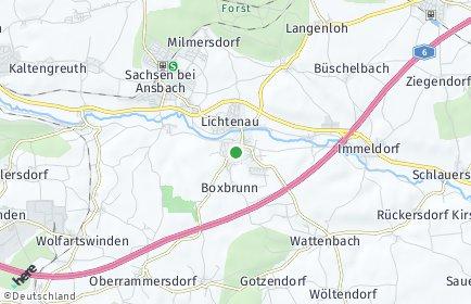 Stadtplan Lichtenau (Mittelfranken)