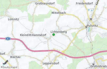 Stadtplan Lichtenberg (Lausitz)