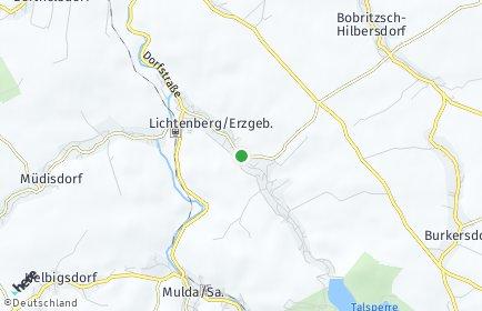 Stadtplan Lichtenberg/Erzgebirge
