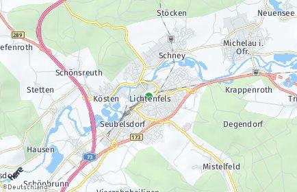 Stadtplan Lichtenfels (Oberfranken)