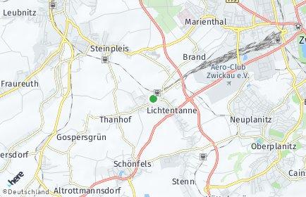 Stadtplan Lichtentanne
