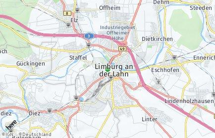 Stadtplan Limburg an der Lahn