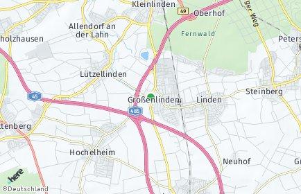 Stadtplan Linden (Hessen)