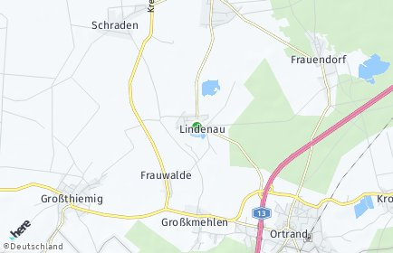 Stadtplan Lindenau (Oberlausitz)