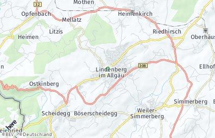 Stadtplan Lindenberg im Allgäu