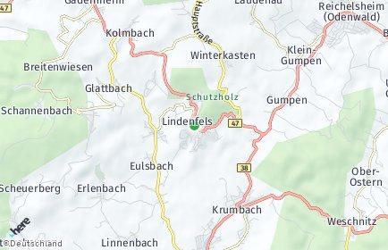 Stadtplan Lindenfels