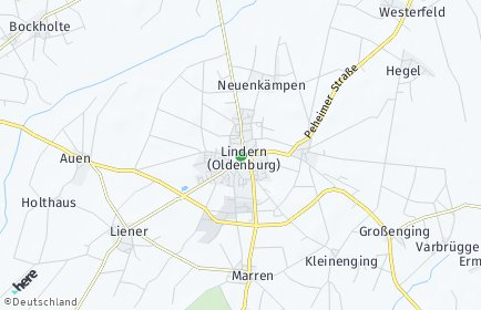 Stadtplan Lindern (Oldenburg)