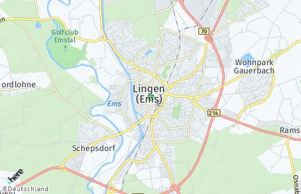 Stadtplan Lingen (Ems)