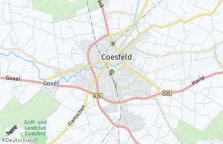 Stadtplan Coesfeld