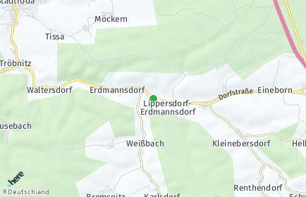 Stadtplan Lippersdorf-Erdmannsdorf