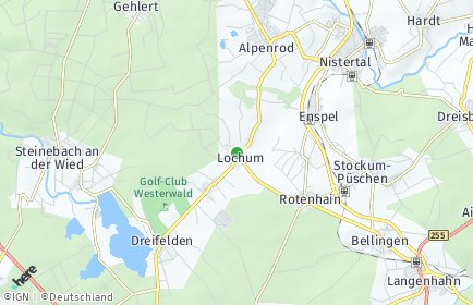 Stadtplan Lochum