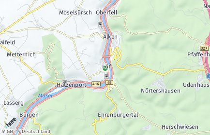 Stadtplan Löf