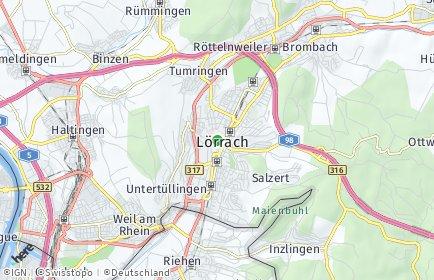 Stadtplan Lörrach OT Tumringen