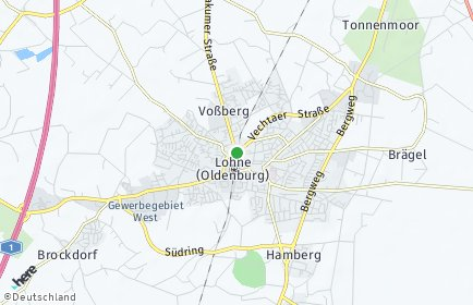 Stadtplan Lohne (Oldenburg)